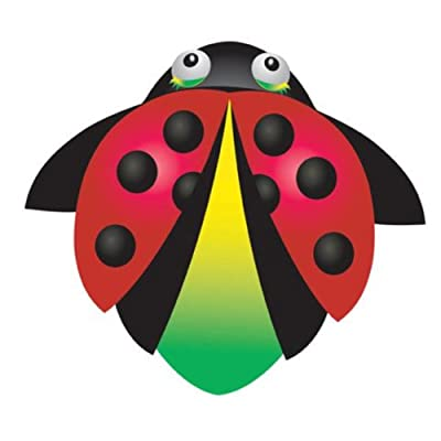 """X-Kites CloudPleasers Nylon Kite - SkyTails, Quickclip, Line, Handle Included (Lady Bug 34""""): Toys & Games"""