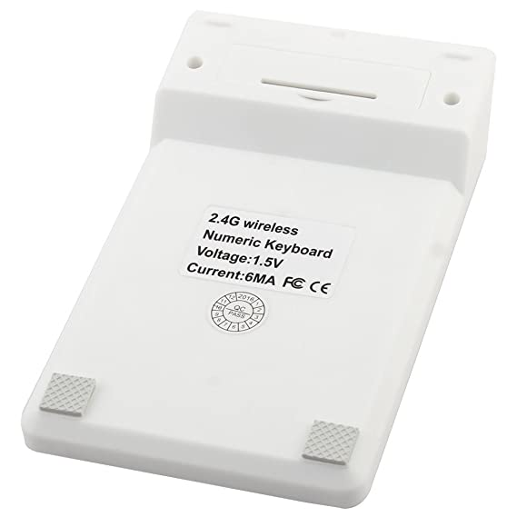 Amazon.com: eDealMax Portátil portátil Mini teclado numérico inalámbrico DE 2,4 GHz Teclado numérico Blanca: Electronics