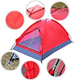 New Waterproof 2 Person Camping Tent Travel Outdoor Hiking Double Layer Backpack Red