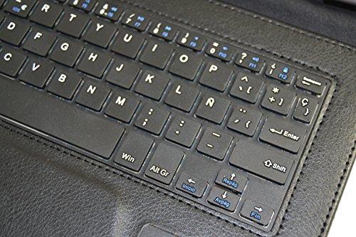 Funda con Teclado Bluetooth Extraíble para Tablet Leotec L-pad Supernova S16 10.1