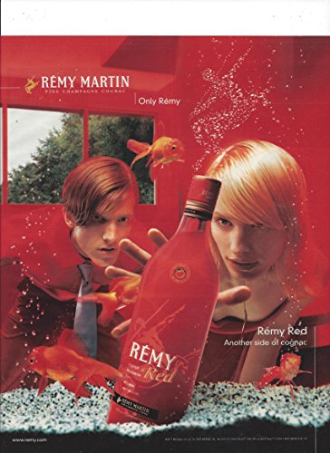--PRINT AD-- For 2000 Remy Martin Red Cognac: Fish Tank Scene --PRINT AD--