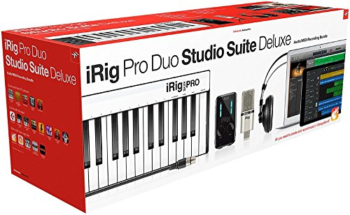 IK Multimedia iRig Pro Duo Studio Suite complete recording bundle for iPhone, iPad & Mac/PC, interface -