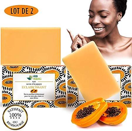 G.F. Jabón aclarante para piel negra, rápido y eficaz, nueva fórmula antimanchas facial y cuerpo, revolucionario, 2 jabones aclaradores purificantes
