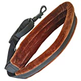 Xinlinke Professional Brown Colored Padded Alto Tenor Saxophone Neck Strap with Locking Swivel Snap Hook for Sax Player Music Instrument