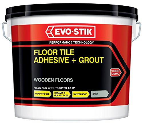 Tile A Floor Flexible Adhesive & Grout for Wooden Floors - Charcoal Grey Evo Stik VDTAZ012