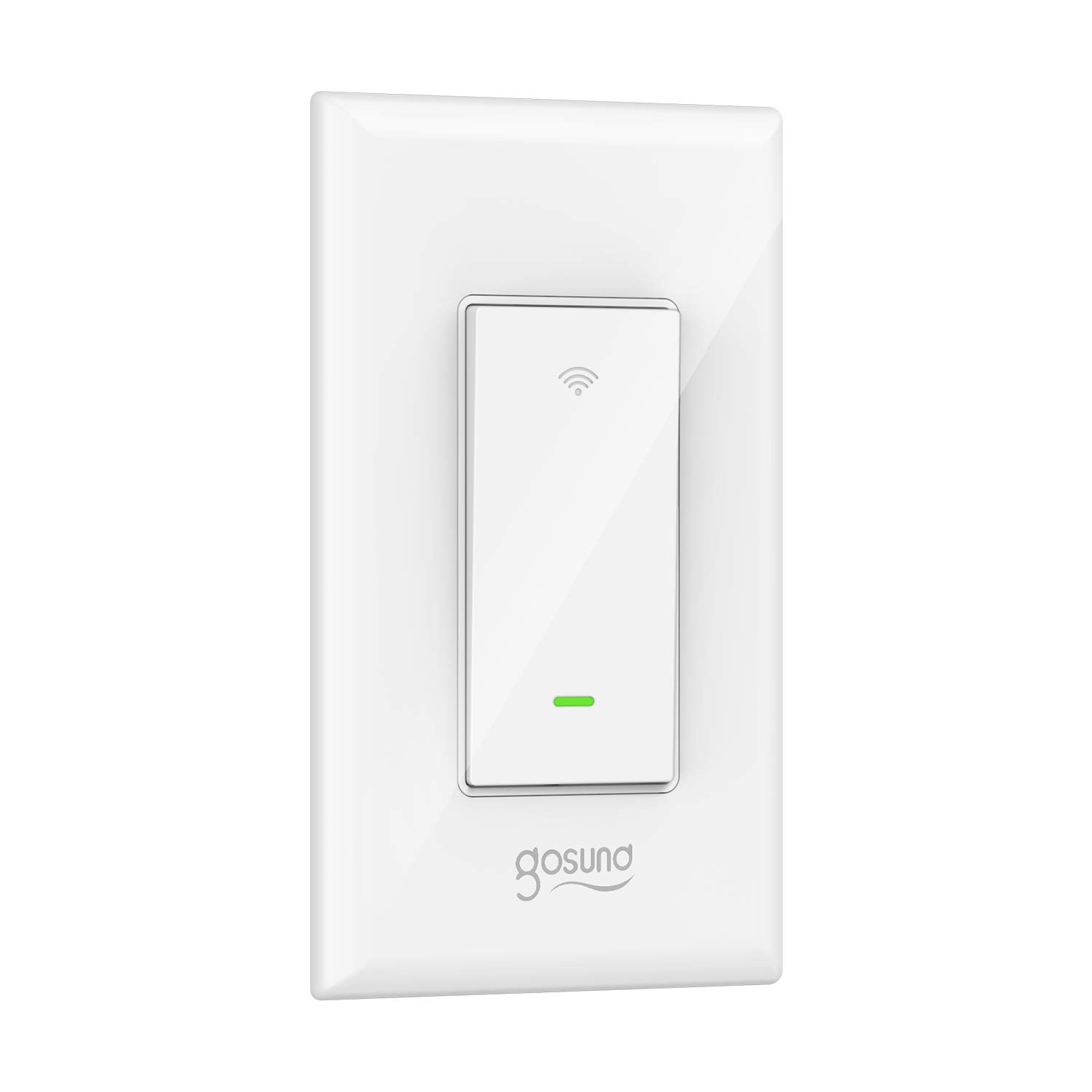 Smart Light Switch, Gosund 15A Smart Wifi Light Switch with Remote Control and Timer, Works with Alexa, Google home and IFTTT, No Hub required, Easy and Safe installation, ETL and FCC listed. (1pack)