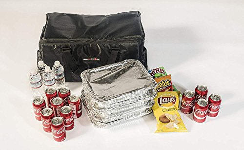 Insulated Food Delivery Bag - Commercial Quality Thermal Food Transport Bag - 22'' x 14'' x 11'' - Extra Strong Zipper With Thick Insulation Carrier - Large Black by DeliveryPizzaBags (Image #4)