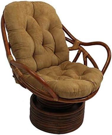 International Caravan Furniture Piece Rattan Swivel Rocker