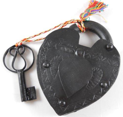 Large Antique Reproduction Heart Padlock