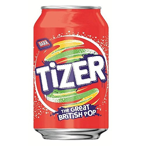 Barr Tizer Cans, 330 ml, Pack of 24