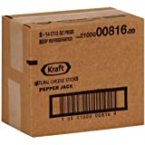 Kraft Natural Pepper Jack Cheese Sticks, 2 Ounce - 28 per case.