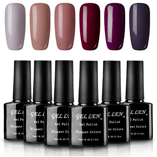 Gellen UV LED Gel Nail Polish Pure Nude Collection - Pack of