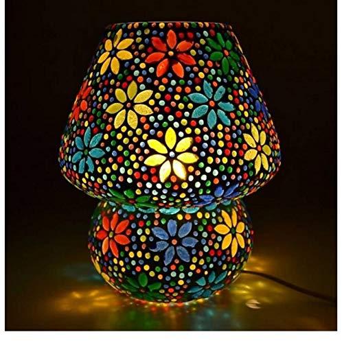 SR LIGHTING HOUSE Glass Table Lamp, Multicolour, Pack of 1