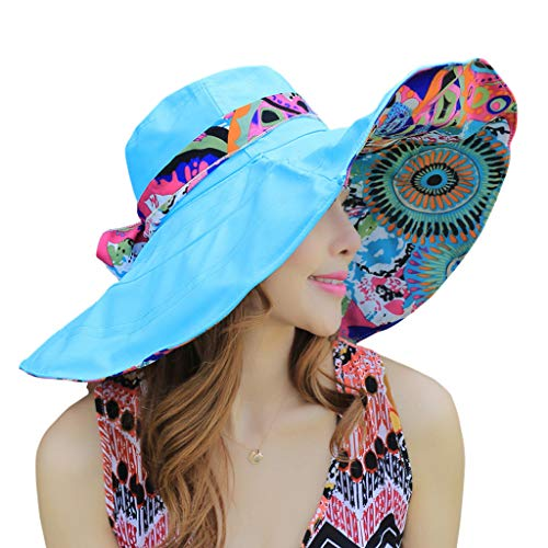 WITERY Floppy Summer UPF50+ Foldable Sun Beach Hats Accessories Wide Brim for ()