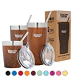 thermo insulated coffee cup - Healthy Human Insulated Stainless Steel Tumbler Cruisers - Travel Cup with Lid & Straw - Vacuum Double Walled Thermos - Idea for Coffee, Tea & Water 12 oz. Harvest Maple