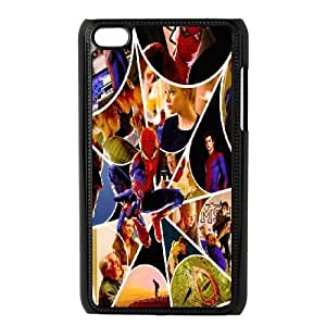 T-TGL(RQ) Ipod Touch 4 Custom Phone Case Spiderman with Hard Shell Protection