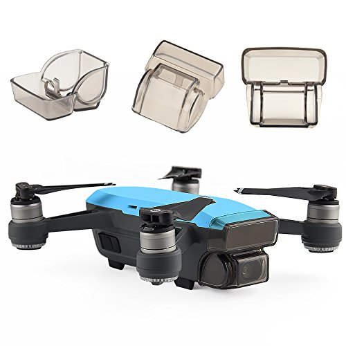 Kuuqa Gimbal Camera Guard Protector Lens Cover Cap Front 3D Sensor System Screen Cover Drone Accessory for Dji Spark (Dji Spark not include)