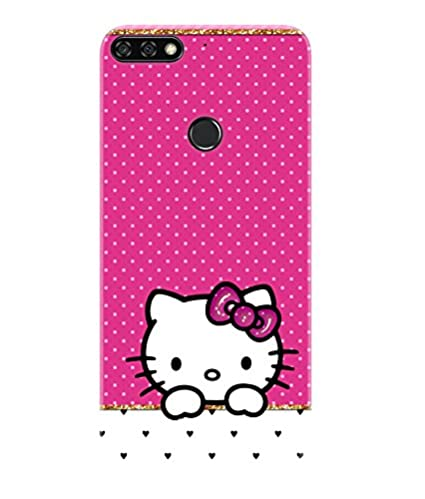 online store a41b4 1acab Gismo Honor 7C Back Cover/Huawei Honor 7C Cover/Honor 7C Designer Printed  Soft TPU (Rubber) Back Case/Honor 7C Mobile Cover-Hello Kitty Pink Cute  Girl ...