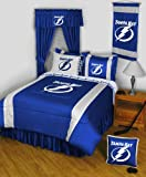 NHL Tampa Bay Lightning Comforter Set 3 Pc Queen Hockey Bedding