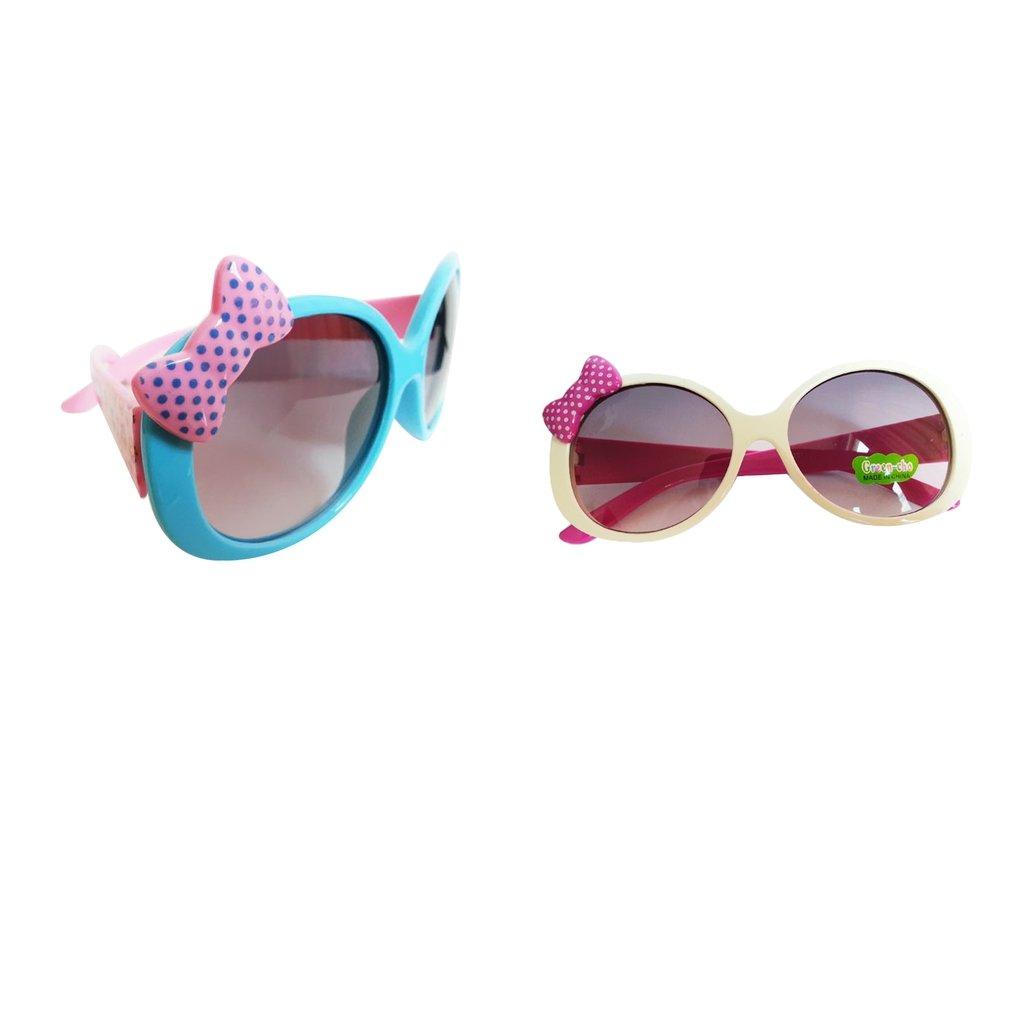 6d2b3d16ce Artículos de fiesta Baoblaze 2pcs Gafas de Sol Anteojos de Moda de Bebés  Juguetes de Primera ...