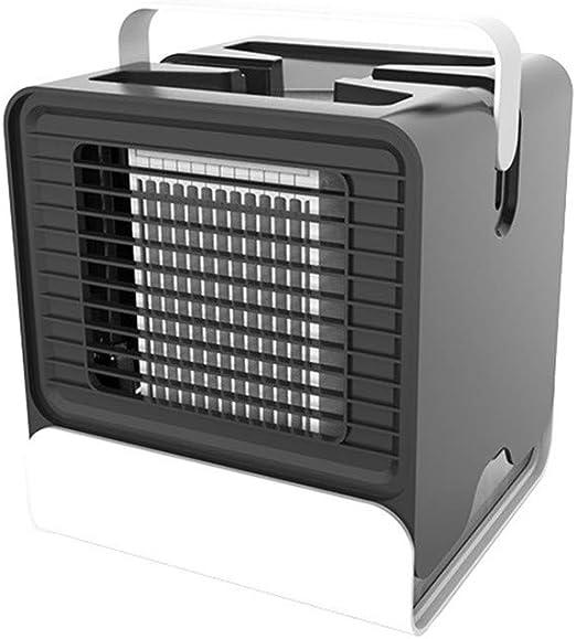 Enfriador de aire personal, ventilador de mesa USB con mini acondicionador de aire portátil, humidificador, purificador de oficina, dormitorio, automóvil, exterior,Black: Amazon.es: Hogar