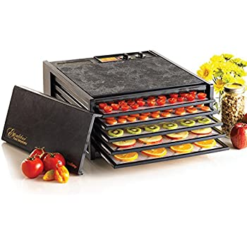 Excalibur 3526TB 5-Tray Electric Food Dehydrator with Temperature Settings and 26-Hour Timer Automatic Shut Off for Faster and Efficient Drying Includ, Black