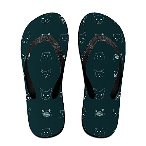 408e02133d10f0 delicate Kitten Faces Men Women Comfort Flat Flip Flops Sandals Beach  Slipper