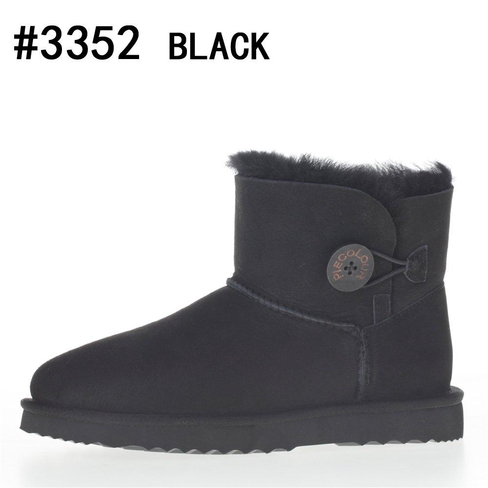 piecolour - Botas de Lana para mujer36 EU|black 3352