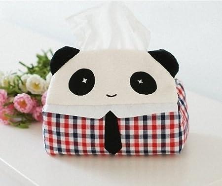 Fashion Base Cute Panda Facial Tissue Box Cover Paper Case Napkin