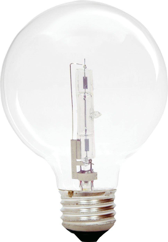 GE Lighting Halogen 16773 60-Watt, 900-Lumen G25 Light Bulb with Medium Base, 6-Pack