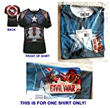 #8: Captain America Civil War Sublimated T-Shirt Men's Size LARGE - Marvel Comics 2016 - NEW, UNCIRCULATED - Factory Sealed in a Poly Bag With Marvel AvengersTag - THIS IS FOR ONE SHIRT ONLY