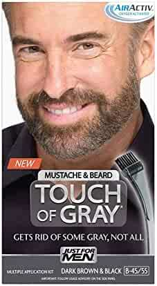 Just for Men Touch of Gray Mustache and Beard Color, Dark Brown (Packaging May Vary) & Black (Packaging May Vary)