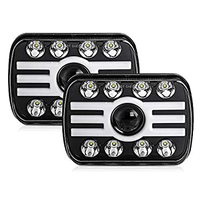 CO LIGHT 2pcs 2020 New 5x7 Inch LED Headlights 116W 7x6'' Sealed Beam Angel Eye DRL Handlamp for Jeep Wrangler YJ XJ Cherokee H6054 H5054 H6052 H6053: Automotive