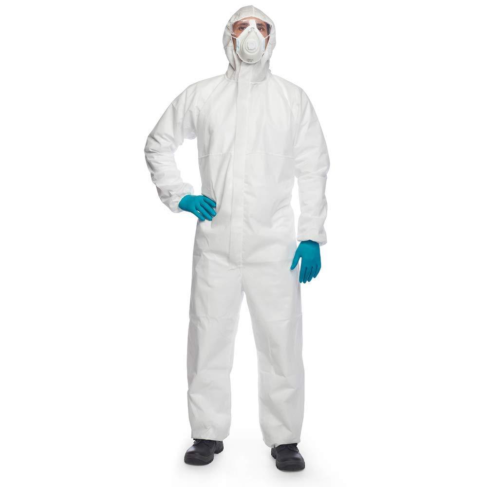 categoria III Tuta con cappuccio colore: Bianco taglia XL tipo 5 e 6 DuPont ProShield 20