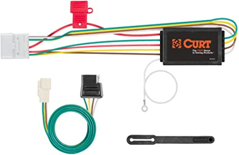 curt 56217 vehicle side custom 4 pin trailer wiring harness for select toyota highlander trailer hitch harness vehicle trailer wiring harness #6