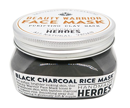 All Natural Vegan Face Mask – Beauty Warrior Face Mask (Black Charcoal Rice Mask) by Handmade Heroes