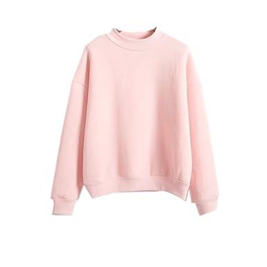 2017 Womens Cute Harajuku Pastel Peach Pink Hoodies Sweatshirts (Size M) bfafe6fba482