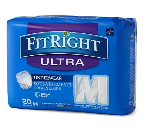medline FitRight Ultra Moderate Absorption Disposable Pro...