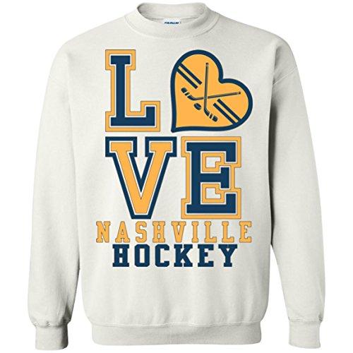 - Hensley Collection Nashville Hockey Sweatshirt, for Real Predators Fans, Perfect Crewneck Pullover Game Day Gift, Unisex, Men, Women