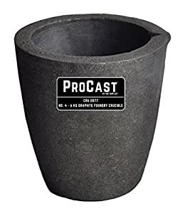 #4 - 6 Kg ProCast Foundry Clay Graphite Crucibles Cup Furnace Torch Melting Casting Refining Gold Silver Copper Brass Aluminum