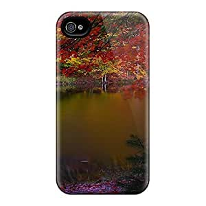 Awesome Design Dark Lake In Autumn Hard Case Cover For Iphone 4/4s