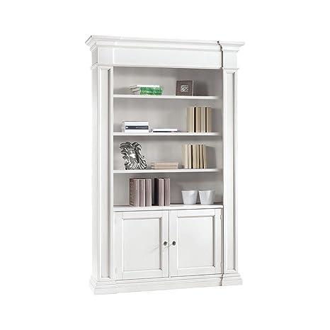 Libreria Bianca Con Ante In Vetro.L Aquila Design Arredamenti Classico Libreria Aperta Shabby Chic