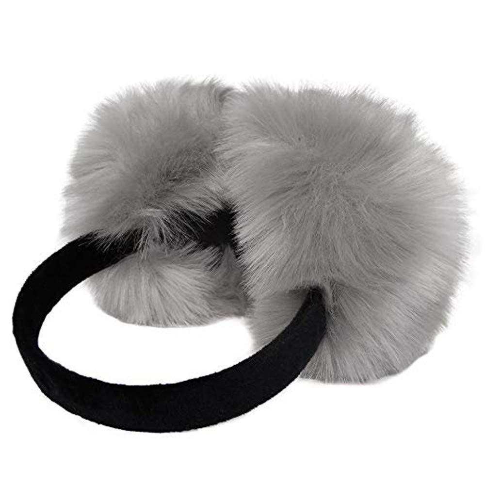 Warm Faux Furry EarMuffs-FuSi Soft Plush earmuffs Cushioned Ear Warmers