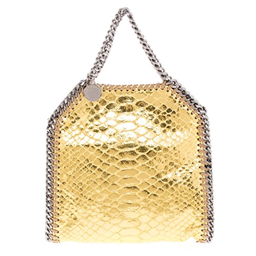 Stella-McCartney-Womens-Tiny-Metallic-Gold-Snake-Effect-Falabella-Tote-Gold