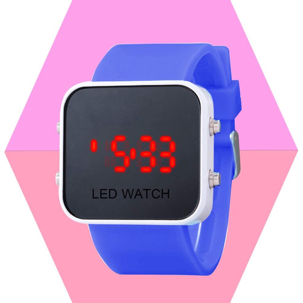 Reloj LED con Pantalla táctil Digital Unisex Mujer Hombre Niños Niñas Reloj Deportivo Casual Reloj (Azul): Amazon.es: Relojes
