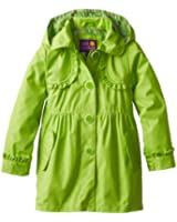 Pink Platinum Big Girls'  Button-Front Trench Coat