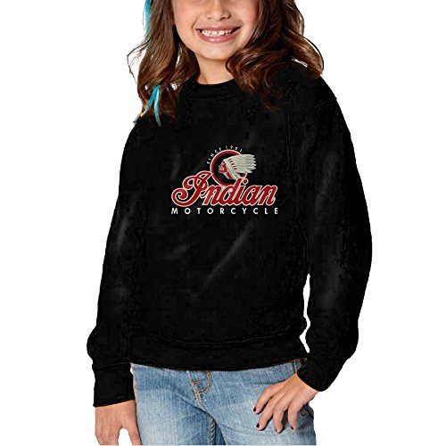 Indian Motorcycles Pullover Hooded Sweatshirt For Girls Boys 2-6 Toddlers