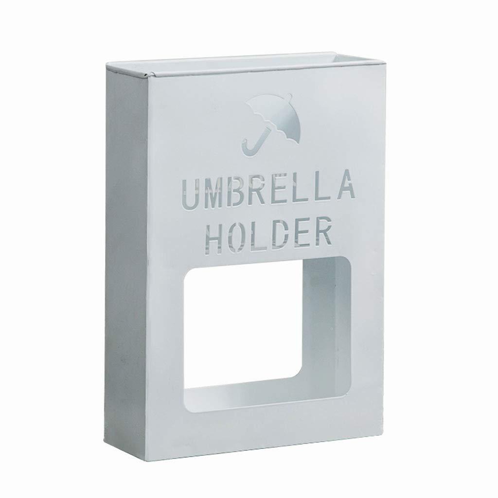 TLMYDD 錬鉄製の傘立て中空文字フラワースタンド傘立てホームホール多機能収納ラック傘立て41 * 36 * 13 cm 傘立て (Color : White) B07RSZTNBZ White