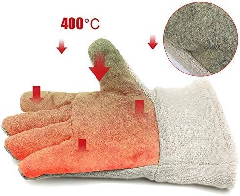 手袋 工業用絶縁手袋労働手袋400度に耐える高温作業用手袋肥厚デザイングリーン LMMSP