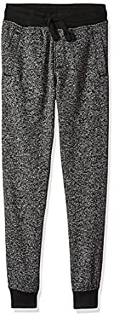 SOUTHPOLE Boy's Basic Marled Fleece Jogger Pants, Black, Small